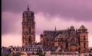 Cathedrale de Rodez au crepuscule, Aveyron