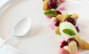 rhubarbe, menthe bergamote, cerises